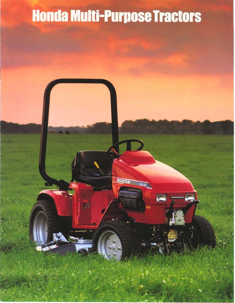 Factory Original Honda H5518 & H5013 Multi-Purpose Tractor Brochure page 1