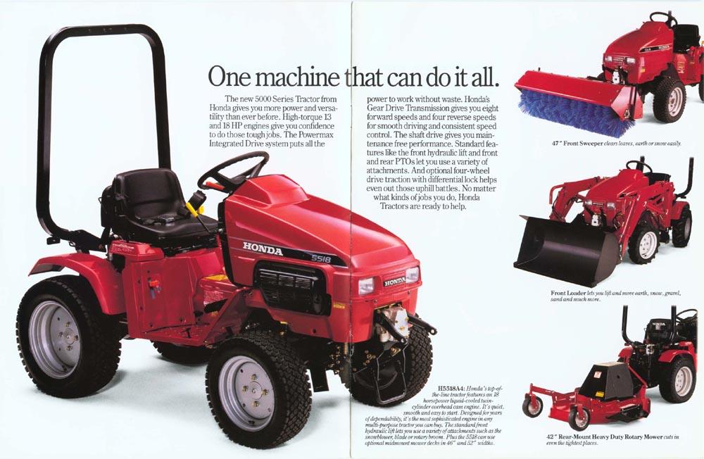 Factory Original Honda H5518 & H5013 Multi-Purpose Tractor Brochure page 2