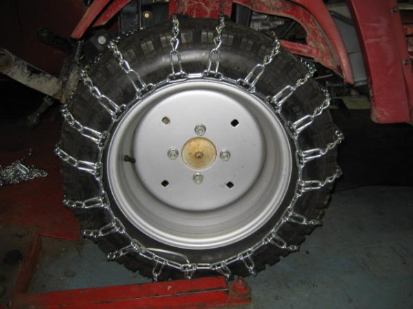 NEW FRONT & REAR Tire Chains for Honda RT5000, H5013, or H5518 Tractor
