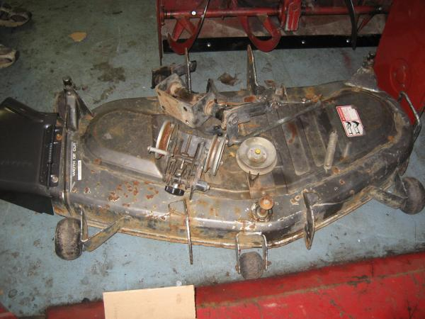 "<span class=""dojodigital_toggle_title"">Used 46″ Mower Deck #7 for Honda RT5000 Tractor</span>"