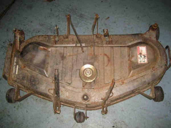 "<span class=""dojodigital_toggle_title"">Used 46″ Mower Deck #8 for Honda RT5000 Tractor</span>"