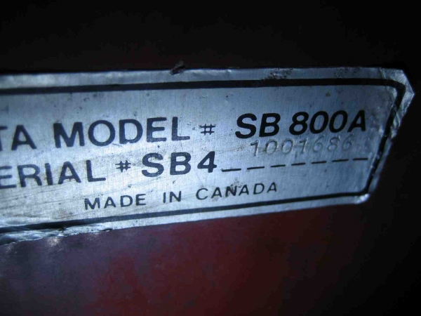 """SLIGHTLY USED 42"""" Snowblower #16 for Honda RT5000, H5013, or H5518 Tractor"""