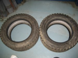 Used Front & Rear Turf Tires for Honda RT5000, H5013, or H5518 Tractor