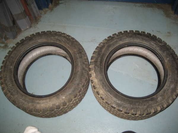 "<span class=""dojodigital_toggle_title"">Used Front & Rear Turf Tires for Honda RT5000, H5013, or H5518 Tractor</span>"