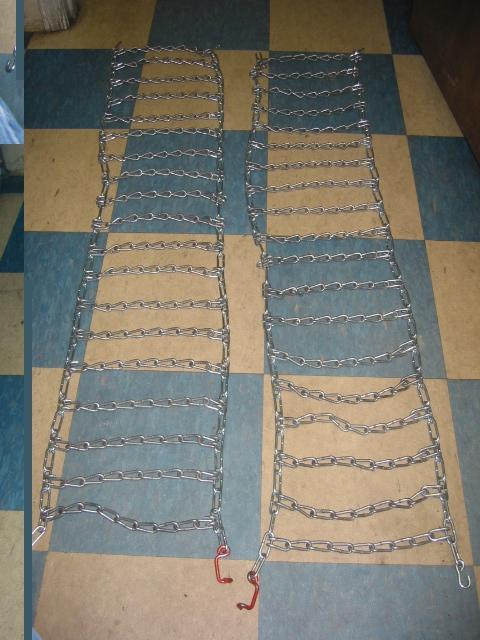 NEW FRONT Tire Chains for Honda RT5000, H5013, or H5518 Tractor