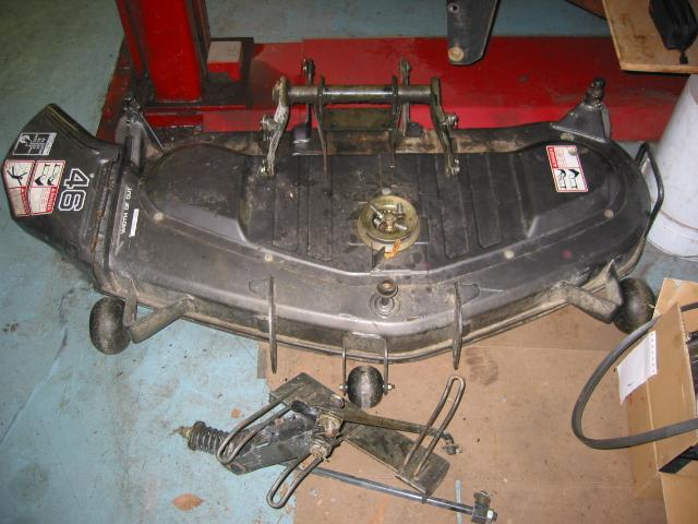 "<span class=""dojodigital_toggle_title"">Used 46″ Mower Deck for Honda RT5000 Tractor</span>"