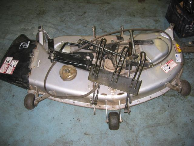 "<span class=""dojodigital_toggle_title"">Used 46″ Mower Deck for Honda H5518 Tractor</span>"