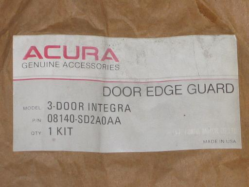 NOS Genuine Acura Integra Door Edge Guards 3 Door Model