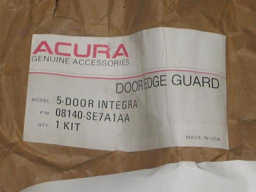 NOS Genuine Acura Integra Door Edge Guards 5 Door Model