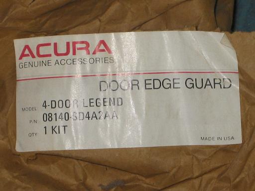 NOS Genuine Acura Legend Door Edge Guards 4 Door Model