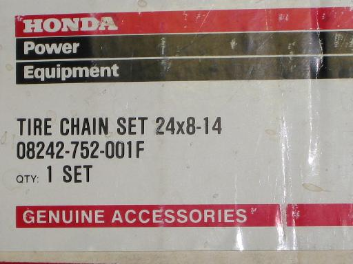 NEW REAR Tire Chains for Honda RT5000, H5013, or H5518 Tractor