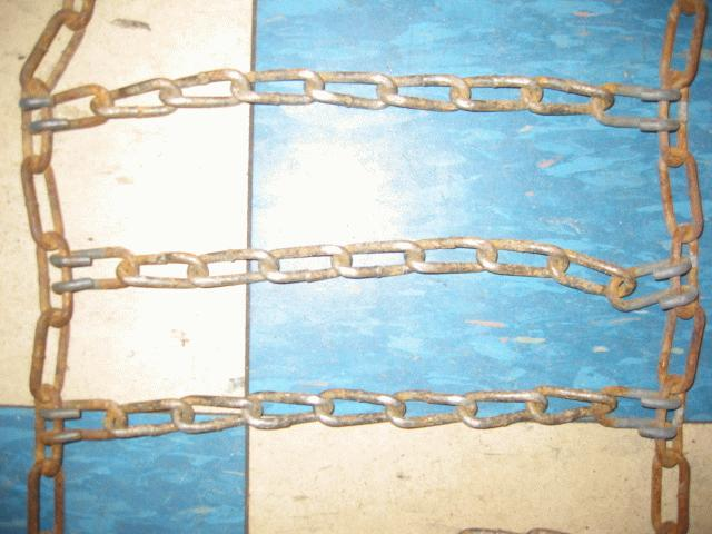 Used Tire Chains for Honda RT5000, H5013, or H5518 Tractor